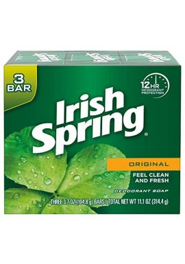Irish Spring Deodorant Soap Original 3-Count
