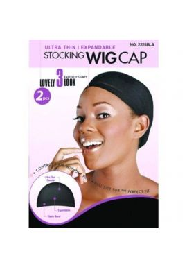 Ultra thin wig caps(BLACK X 2PCS)