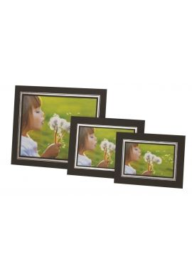 Kenro Black Cardboard Strut Mount Photo Frame 6x4 Inch 10x15cm Presentation with Silver Border Pack of 50 - PMA129/50