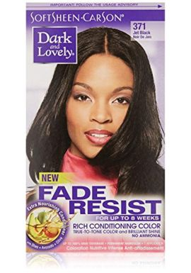 Dark and Lovely Fade Resistant Rich Conditioning Color # 371 Jet Black 1 Application Hair Color for Women