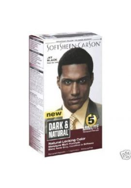 DARK & NATURAL MEN HAIR DYE 5 MINUTE PERMANENT HAIR COLOUR JET BLACK