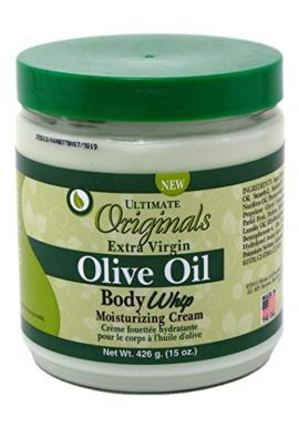 Ultimate Organic Olive Oil Body Whip Moist Cream Jar, 426g/15oz