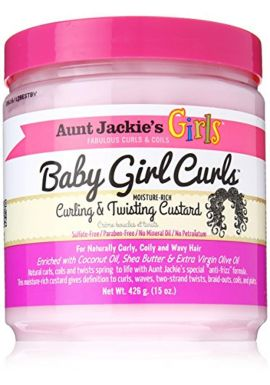 Aunt Jackies Baby Girl Curls Curling and Twisting Custard 15oz