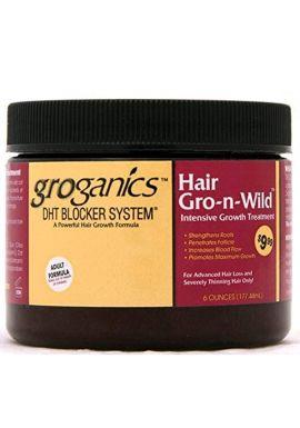 Groganics DHT Blocker System Hair Gro-N-Wild **Intensive Growth Treatment 6 OZ