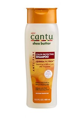 Cantu Shea Butter Anti Fade Color Protecting Shampoo with Quinoa Protein, 13.5 Fluid Ounce 13.5 Ounce