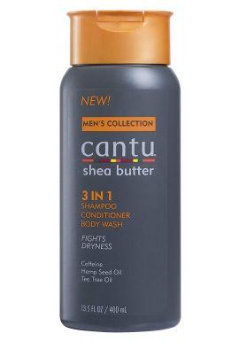 Cantu Mens 3-In-1 Shampoo Conditioner Bodywash 13.5 Ounce (400ml)