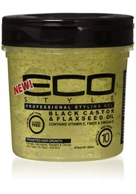 Eco Styler Black Castor & Flaxseed Oil Gel 16oz