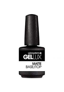 Salon System Gellux Gel Matte Base/Top Coat Nail Polish, 15 ml