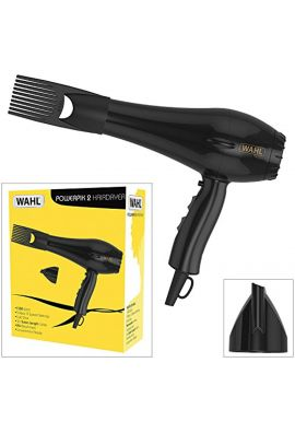 Wahl PowerPik 2 1500W Turbo Hair Dryer with Afro Comb Pik Attachment for Afro-Caribbean Hair