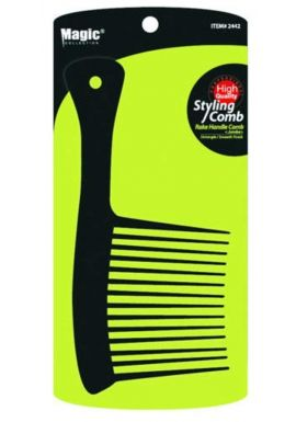 Magic Collection Styling Rake Handle Jumbo Wide Tooth Comb Untangle/Smooth Finish Item No 2442