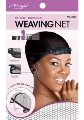 ADJUSTABLE WEAVING NET DELUXE / INVISIBLE Comfortable # 2269 BLACK