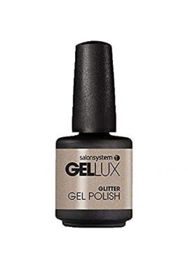 Salon System Gellux Gel Nail Polish, Champagne Kisses/Shimmer, 15 ml