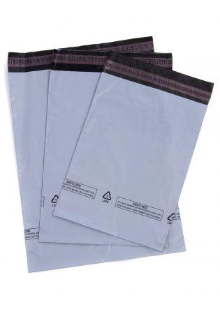 "3X 5 Extra Large Grey Mailing Bags / Postal Sacks 525mm x 600mm - 21"" x 24"""