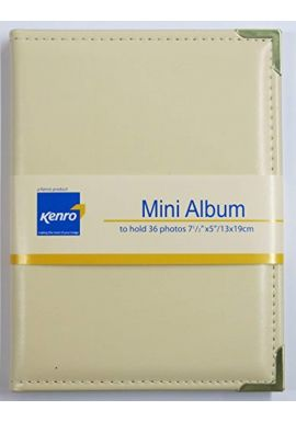Kenro Carlton mini slip in photo album ivory - holds 36 pictures 7x5 inch / 13x19cm