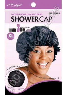 "Magic Collection Water Proof Elastic Band Shower Cap XL 21"" No 2160"