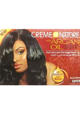 Relaxer/Smoothing Cream Creme of Nature with Argan Oil Relaxer Super