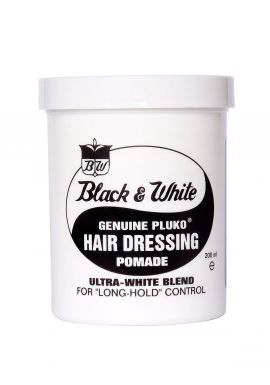 Black and White Pluko Hair Dressing Pomade 200ml **TWIN PACK**