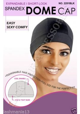 Murry Collection Expandable Spandex Dome Cap No 2251BLK