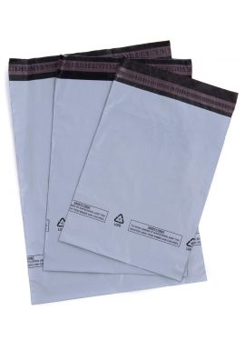 "2X 5 Extra Large Grey Mailing Bags / Postal Sacks 525mm x 600mm - 21"" x 24"""