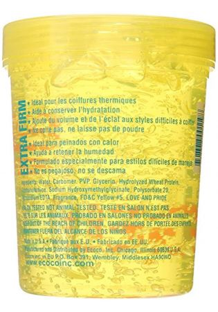 ECO Styler Yellow Extra Firm Professional Hair Styling Gel 32oz/907g